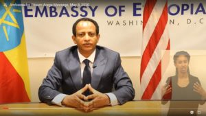 Message from Ethiopian Ambassador to US, H.E. Ambassador Fitsum Arega